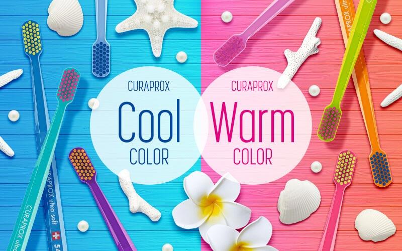 暖色か寒色か選べる